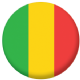 Mali Country Flag 25mm Pin Button Badge